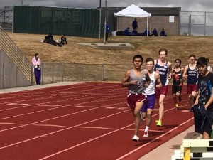 Junior Levi Chambers in pursuit of the race leader followed closely by Wilson Young