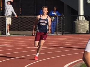 Brenden Worley in the 400 meter run