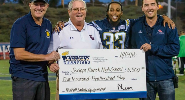 SRHS Football receives Charger Grant
