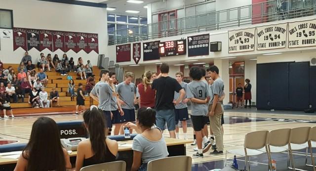 Varsity Boys Volleyball beat Canyon Crest