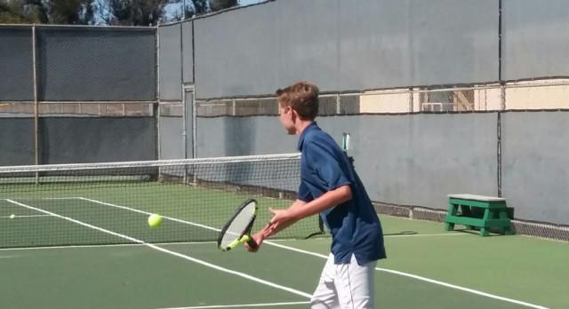JV Boys Tennis beats Poway