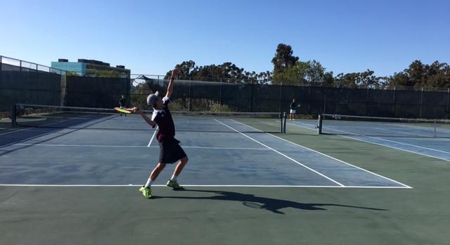 Varsity Boys Tennis beat Poway