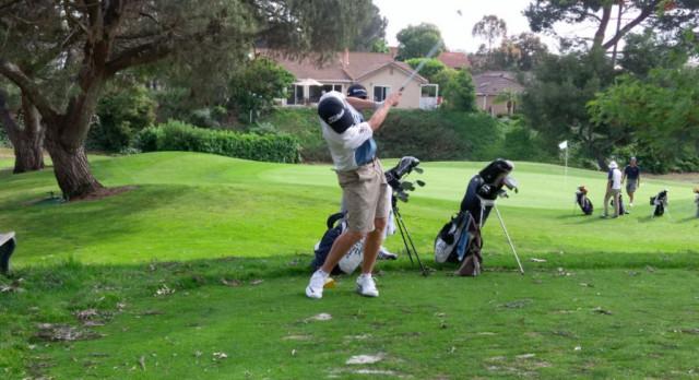 Varsity Boys Golf take care of Saints