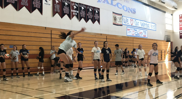 Girls Volleyball Tryouts 2017