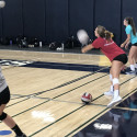Varsity Girls Volleyball Working Hard