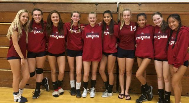 Freshman Girls Volleyball Beat Point Loma