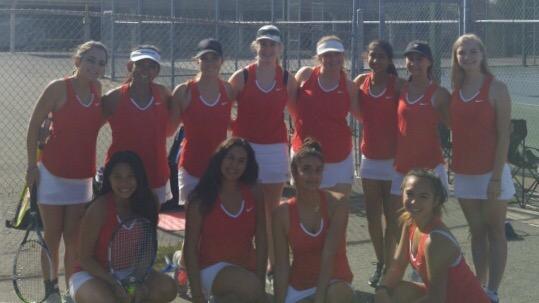 Clayton Valley Charter High School Girls Varsity Tennis beat Alhambra High School 6-3