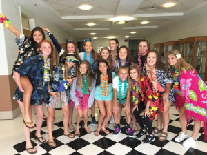 Hawaiian Spirit Day for Girls JV Soccer! The girls beat Paint Branch HS 7-0.