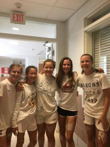 Girls JV Soccer White Out Spirit Day leads to 7-0 W over Einstein HS.