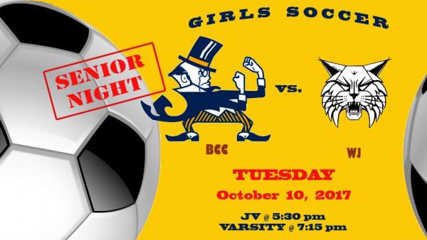 Girls soccer games 10/10 beginning @ 5:30 p.m.