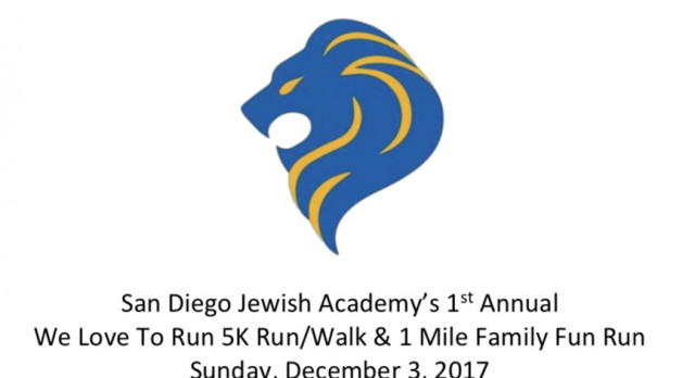 Register Now for the SDJA We LOVE TO RUN 5K!
