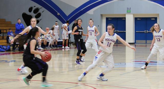 Folsom High School Girls Varsity Basketball beat Franklin (EG) – Section Playoff Game 90-25