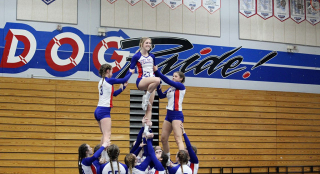16-17 Folsom High School Stunt Cheer Competes Tonight in the Final Home Match of the Season