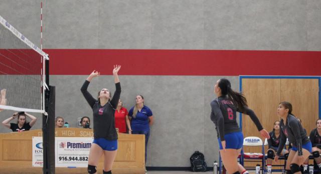 Folsom High School Girls Junior Varsity Volleyball beat Woodcreek – Game 2-0