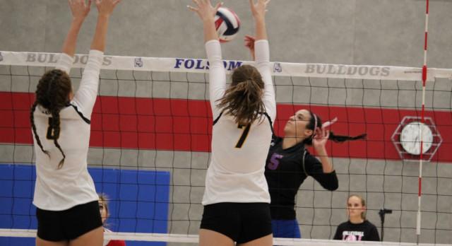 Folsom High School Girls Varsity Volleyball falls to Del Oro – Game 3-0