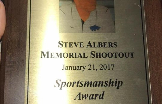 Steve Albers Memorial Shootout Sportsmanship Winner