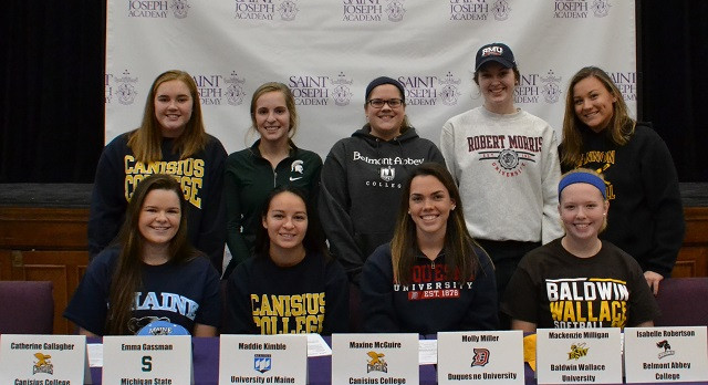 Nine SJA Student-Athletes Sign National Letters of Intent