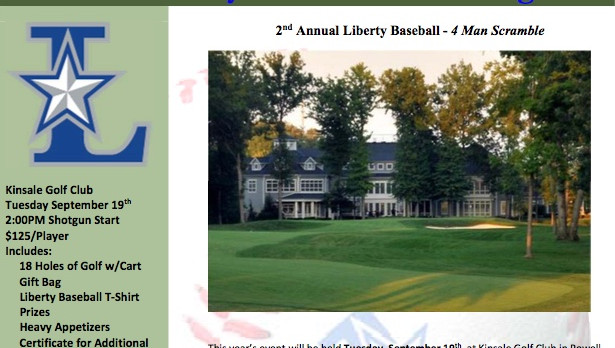 Baseball Fundraiser – Golf Outing on September 19th