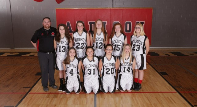 Addison Girls 7th Grade Basketball beat Hanover Horton Comets 17-6