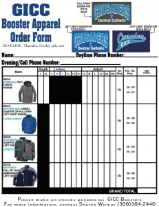 16-17 Crusader Apparel Order Form - TShirt Eng