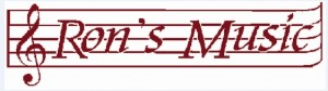 Ron's Music Logo-Red