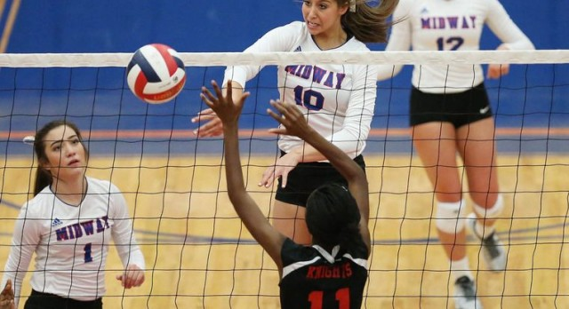 Top-ranked Midway Pantherettes cruise to final district win, 3-0