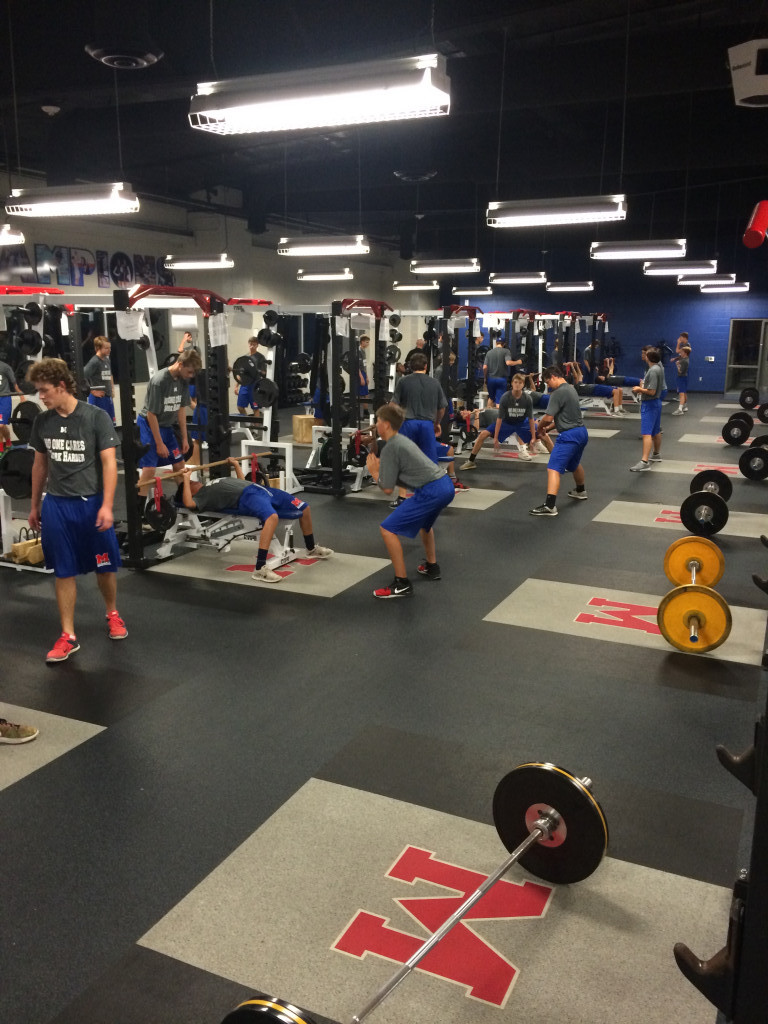 Baseball Offseason Working Hard In The Weight Room