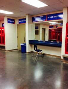 Locker room renovations.