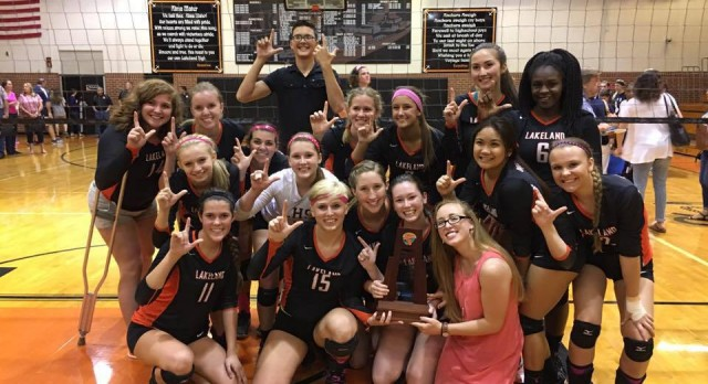 Lady Naughts Volleyball Capture District Championship