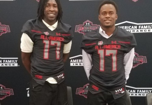 Robinson & Davis Receive Honorary Jerseys for UA All American Game