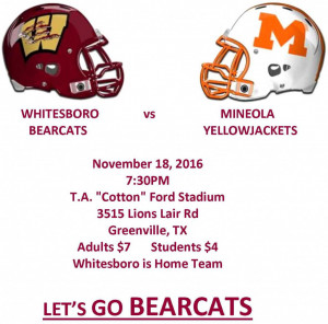 WHITESBORO  vs    MINEOLA