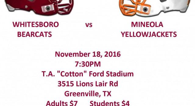Area Playoff Game