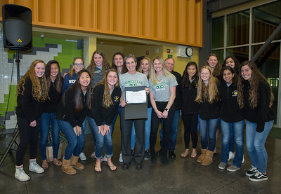 Board of Trustees Honors Girl's Water Polo for Outstanding Team of the Year!