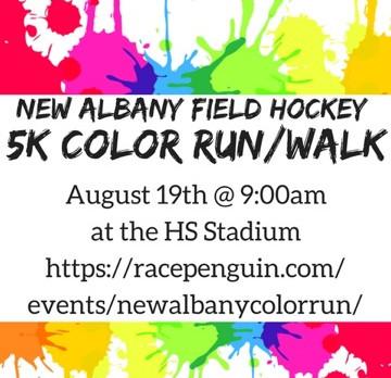 Color Run Sponsored by New Albany Field Hockey