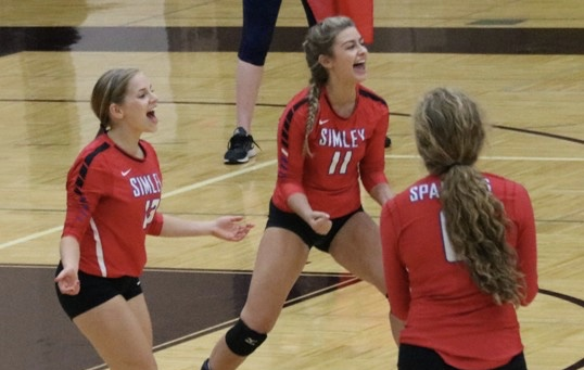 Simley High School Girls Varsity Volleyball beat Henry Sibley 3-0