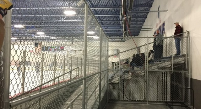 Shooting Cage added for the High School Hockey Programs