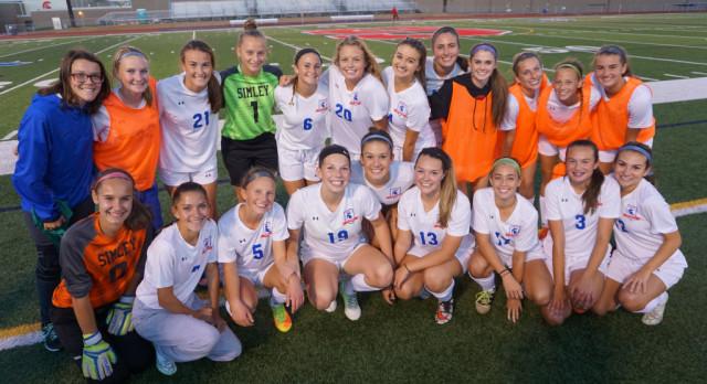 Simley High School Girls Varsity Soccer beat St. Paul Highland Park 2-1