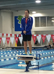 Friske places 2nd in 50 Free