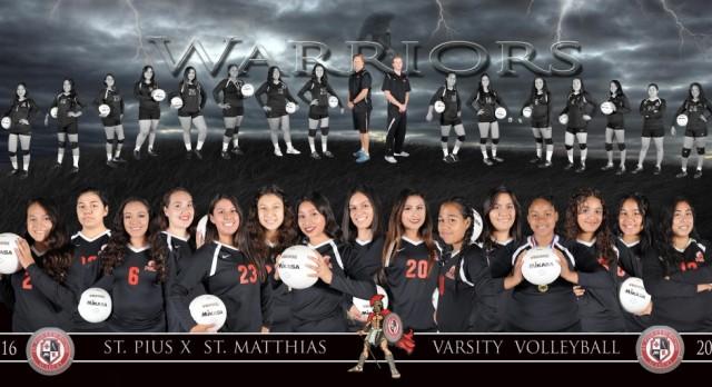 PMA Varsity Girls Volleyball Team Photo