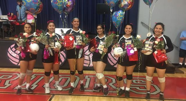 St. Pius X – St. Matthias Academy Girls Varsity Volleyball gets the win vs Bellarmine-Jefferson – Senior Night 3-1