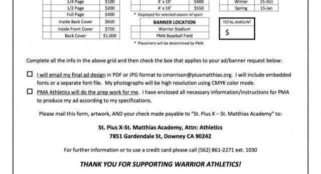 Athletic Sponsorship Program
