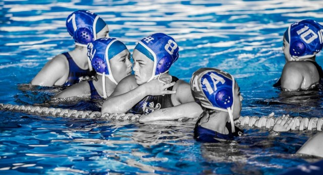 Lady Highlander Water Polo plays Fullerton.  (1/25/17)