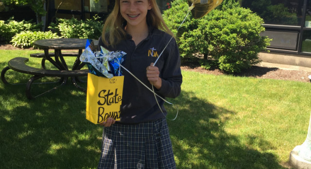 Lauryn Mick to compete at Track & Field States on Saturday!