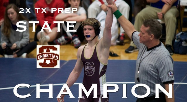 LION WRESTLER WINS SECOND TEXAS PREP STATE CHAMPIONSHIP