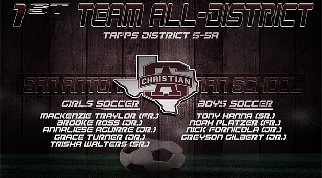 GIRLS/BOYS SOCCER: TAPPS FIRST TEAM ALL DISTRICT
