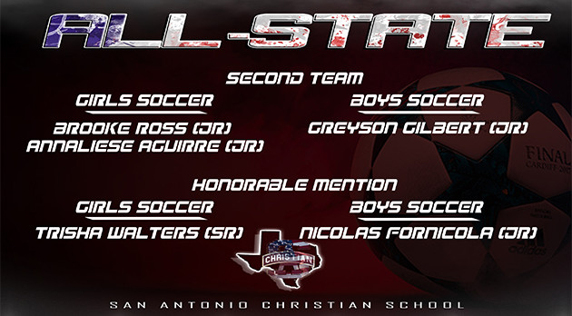 Congratulations to our All State Soccer Athletes!