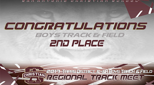 BOYS TRACK & FIELD – 2nd PLACE REGIONAL TRACK MEET