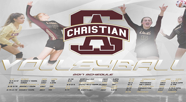 2017-2018 LADY LIONS VOLLEYBALL SCHEDULE