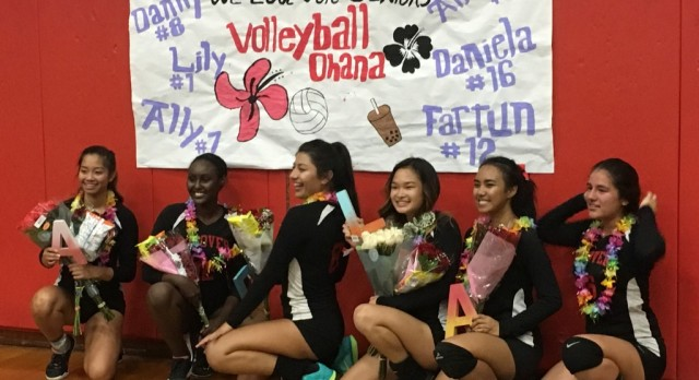Senior Night for Girls Volleyball