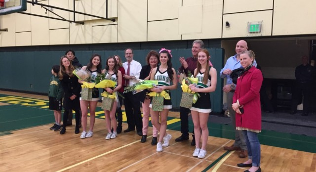 Cheer Senior Night – Congrats! – Nell Egan,Aly Sato,Cezi Ems & Justine Babbitt
